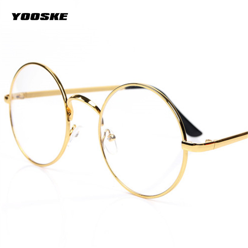 YOOSKE Glasses Frames Round Spectacle For Harry Potter Glasses With Clear Glass Women Men Myopia Optical Transparent Glasses(China (Mainland))