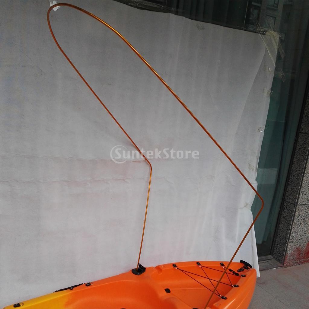 Black Universal Single Kayak Canoe Mesh Sun Shade Awning Kayak Accessories