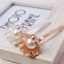 Elegant Fashion Shell Imitation Pearl Hairpins Barrettes for Women Girl Hairgrips Japanese Hair Accessories(China)