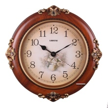 Electronic clock antique Large fashion wall clock quieten rustic decoration quartz clock and watch