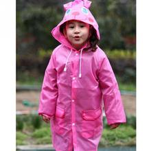 Hot Sale Waterproof Rain Suit Polyester Kids Raincoat Cartoon Children Rain Wear