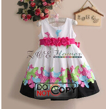 Low price Flower Girl Dress Wedding Princess Clothes Elegant Party Pageant Wedding Bridesmaid Kids Clothing Vestidos Infantis