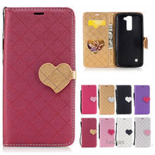 Newest Mixed Color PU Leather Case For LG K8 Hit Color flip Caso Capa For LG LG K8 LTE K350E K350N K7 Caixa Telefone Coque bag(China)