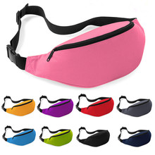 Waist Pack Men Women Solid Color Oxford Zipper High Quality Waist Bag Candy Color Chest Bag Bolsa Masculina Bolsos Mujer
