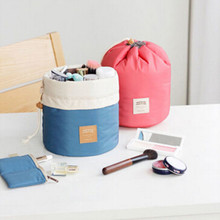 New Collection Barrel Travel Storage bag High Capacity Nylon Drawstring Elegant Drum Wash Bag Makeup Organizer Storage bag(China)