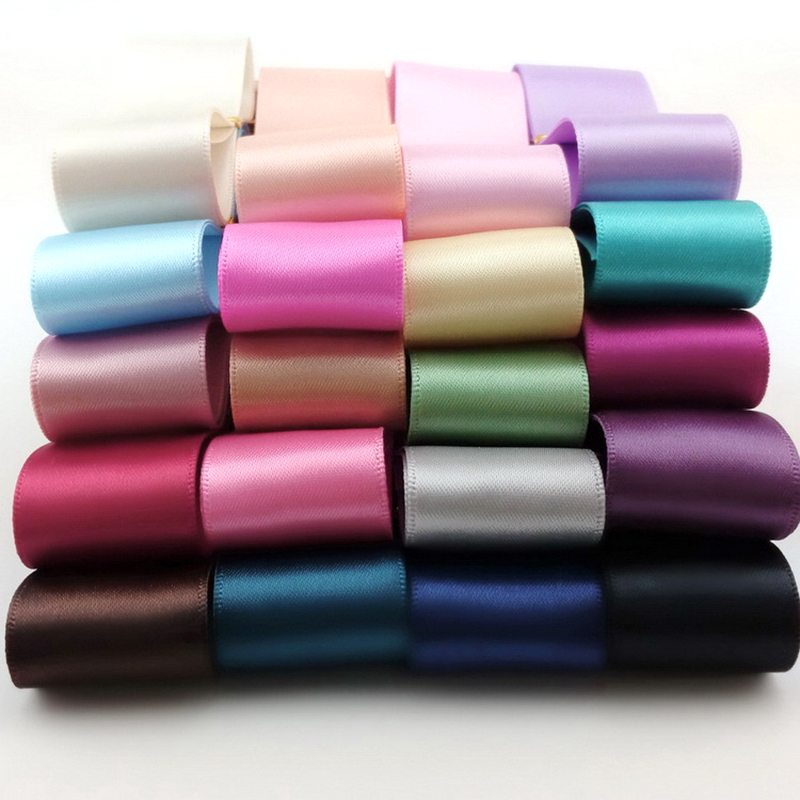5meter/lot 6|10|25|38mm double-sided polyester ribbon diy handmade hair accessories material packaging tape 20 colors T-034
