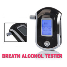 New Professional Digital Breath Car Alcohol Tester mouthpieces with blue backlight.