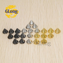 100pcs 7*8mm Plastic Punk Sewing Spikes Rivet Cone Stud Bead 3 Colors for pick DIY for Bag Garment Leathercraft #GP008-7G/S/B