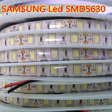 SAMSUNG Seoul SMD 5630 led strip 5m 10m 15m 60led/m Waterproof IP65 12V tape light neutral white , Good Quality, Free shipping