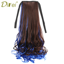 Buy Synthetic Ponytail 12 Colors Long Curly Ponytail Claw Drawstring Ponytails High Temperature Fiber Hair Women DIFEI for $5.33 in AliExpress store