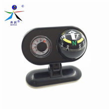 Pivoting Compasses Dashboard Dash Mount Vehicle-borne Type Car Compass with Thermometer Caravan Boat Truck Compass