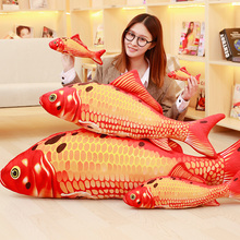 New 3D Grass Carp Pillow PP Stuffed Plush Simulation Animal Fish Toy High Quality Birthday Gift 16cm/30cm/60cm