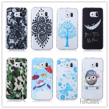 TPU Soft Cases For Samsung Galaxy S6 Edge G9250 S6 Edge Cartoon Cell Phone Cases