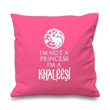 "Custom Princess Khaleesi Game of Thrones Inspired Cushion Cover Covers Throw Pillow Case Cases 18"" Pink Red Turquoise Girl Gifts"