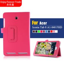 For Acer Iconic A1 840 Leather Case, Premium Quality Smart Cover for Acer Iconia Tab 8 A1-840 FHD Tablet with Free