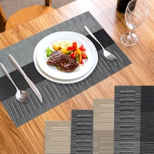 Ourwarm Wedding Placemat PVC Dining Table Mats Disc Pads Waterproof Slip-resistant Pad Home Kitchen Party Table Decorations