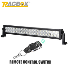 RACBOX 22 inch 120W OffRoad LED Work Light Bar Driving Lamp White 9600LM Combo Beam For 4x4 ATV Boat SUV Truck Tractor SUV Light