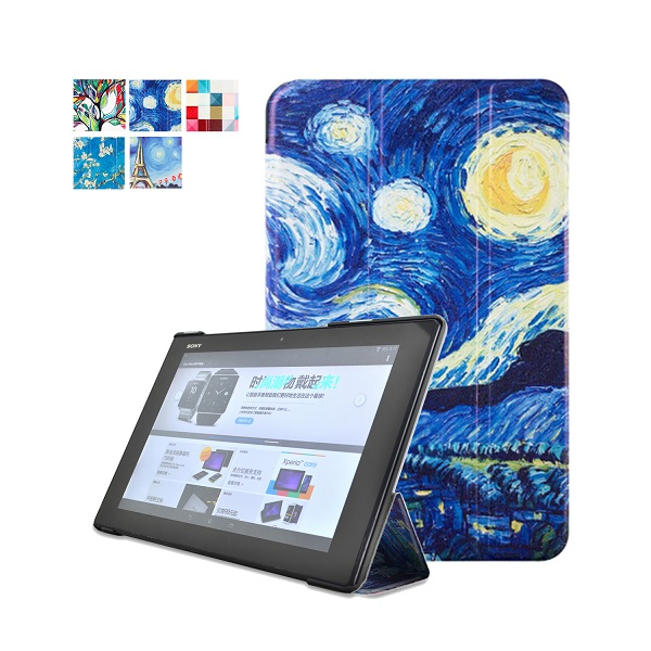 Original Leather cove Case Sony Xperia Tablet Z2 + PC Stand Magnetic Smart Cover + Screen Protector +Stylus pen