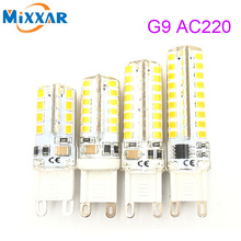 G9 led corn lamp AC220V 3014 15W 10W 12W 2835 LED Crystal Silicone Candle Replace 20-40W halogen lamps Christmas light bulb(China)