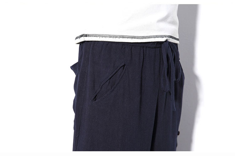 Aolamegs Mens Casual Pants Cotton Linen Loose Large Ankle-length Pants 2017 Summer Chinese Style Male Japan Harajuku Cross-pants (14)