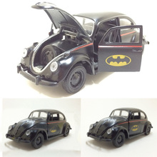 1:36 scale Diecast Alloy Batman Classic Car Beetle Black Alloy Car Model With Pull Back brinquedos Kids Toy Gifts Free Shipping