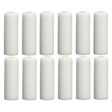 Best Price 12PCS 100mm Durable Foam Paint Roller Sleeves Painting Decorating Sponge Rollers + Handles Art Sets Painting Supplies(China)