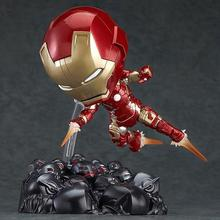 New hot sale anime figure toy Iron Man Q verson GSC 543 Mk43 10CM gift for children free shipping