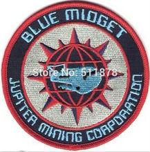 "4"" RED DWARF BLUE MIDGET TV MOVIE Series Uniform Red punk rockabilly applique iron on patch Wholesale"