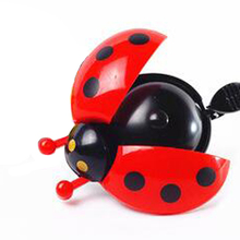 Hot Sale Lovely Kid Beetle Ladybug Ring bicycle Bell For Cycling Bicycle Bike Ride Horn Alarm bike trumpet horn