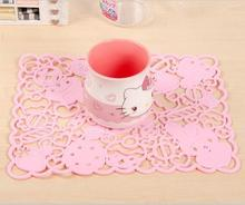 (10 Pcs/Lot) High Temperature Stand Hello Kitty Twin Stars My Melody Dish Cup Placemats For Table
