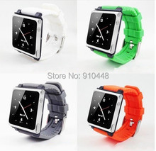 Free Shipping Fashion watchband soft Silicone Bracelet wrist Watch Band Case cover for ipod Nano 6 with Retail Package