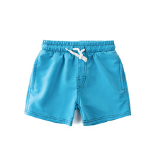 27Kids 2017 Boys Summer Solid Swimming Shorts Graduation Teenage Kids Children Boardshorts Quick Drying Clothes 4-14Y