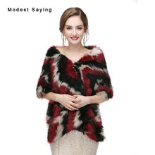 Elegant Black and Red Faux Fur Wedding Shrugs 2017 Imitation Fox fur Bridal Shawl Jacket Warm Boleros Winter Wedding Accessories