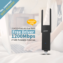 Wireless Wi fi Adapter Mini PC WiFi adapter 1200mbps USB antenna Dual Band 2.4GHz 5GHz computer Network Card 802.11b/n/g/ac - Shen Zhen Four Seas COMFAST Technology Co., Ltd. store