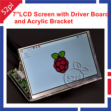 52Pi Raspberry Pi 7 inch 1024*600 LCD Display Monitor Screen with Driver Board ( HDMI VGA 2AV ) & Transparent Acrylic Bracket(China)