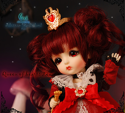 flash sale!free shipping!free makeup&amp;eyes!top quality bjd 1/8 baby doll lati Alice In Wonderland ver Queen of Hearts lea toy<br><br>Aliexpress