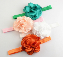 Burned Flower With Elastic Headband Singed Flower Headband For Girls boy  Kid Hair Accesories