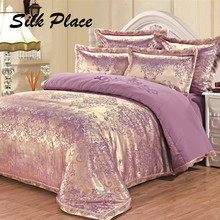 SILK PLACE 2017 Fashion Bedding Set 100% Cotton Jacquard Bedding  Modern Comfortable Bed Sheet With Pillowcases King Queen Size