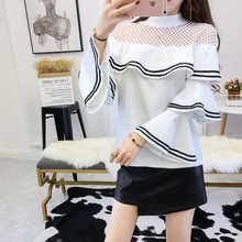 Buy Women Blouses Chemise Femme 2018 Summer Slim Woman Blouse Flare Short Sleeve Chiffon Shirt Womens Clothing O-Neck Shirts Tops for $15.29 in AliExpress store