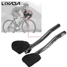 Lixada Road Bike MTB Bicycle Aero Bar Arm Rest Relaxation Aerobar for 31.8mm Handlebar Strong Carbon Fiber Bicycle Parts