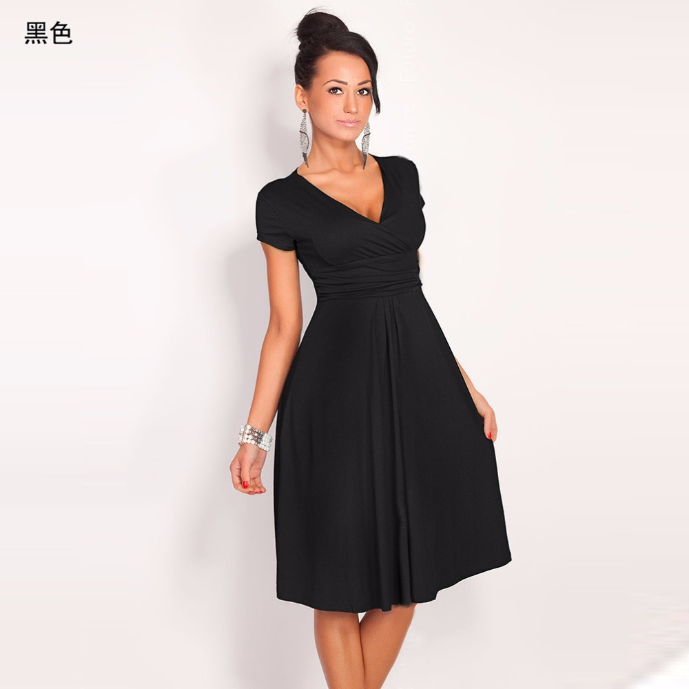 Womens dress deep v sweet scallop pleated skater cute slim womens dress deep v sweet scallop pleated skater cute slim corrugated 2018 sexy casual summer party dresses brand fashion club us638 fandeluxe Image collections