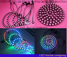 Free Shipping  WS2812 5050 RGB LED 1 8 12 16 24 32 93 Bits LEDs WS2812 5050 RGB LED Ring Lamp Light with Integrated Drivers