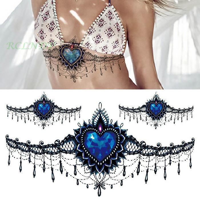 Waterproof Temporary Tattoo sticker mandala totem large body art henna chest breast tatto stickers flash tatoo fake tattoos 19 4