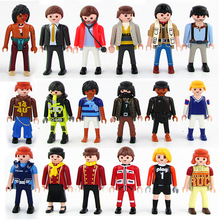 2017 Hot Sale 10pcs/lot 7.5cm playmobil ABS Blocks figures paddle pop small toys Knights figures random castle child Toy(China)