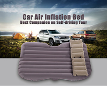 4 Colors PVC Drive Travel Universal Automotive Air Inflation Bed Comfortable Airbed Environmental Material Wave Design(China)
