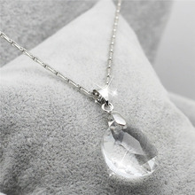 2017 high quality  Queen design luxury 18kgp Austrian clear crystal Pea Princess alloy pendant necklace fashion jewelry 29669