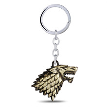 Game of thrones Keychain House Stark Keychain Chameon Of Ice and Fire Key Rings Holder Souvenir For Gift Chain Men Jewelry