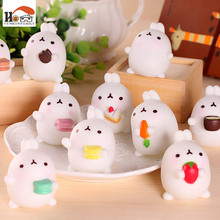 1 pcs CUSHAWFAMILY Cute cartoon home decoration rabbit home & garden desktop Furnishing Articles Resin craft children toys gifts(China)