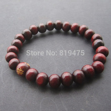 8mm Natural Wood Bracelet wood bead  Bracelet   flexible  For Women  Wholesale and Retail