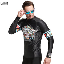 New Wetsuit For Men Surfing Windsurf Snorkeling TShirt Men's Long Sleeve Sun Protection Clothes Diving Wetsuit Top Rashguard(China)